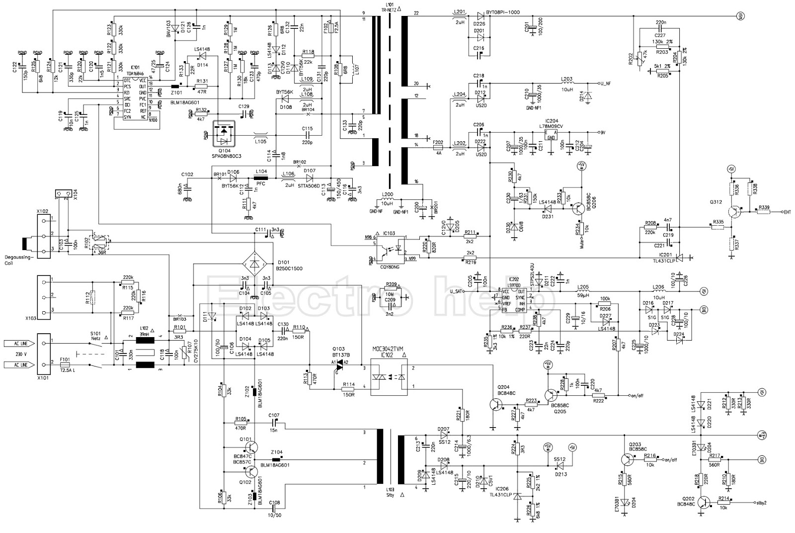smps schematic click on the schematics to zoom in