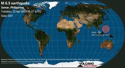 Un terremoto di magnitudo 6,5 ha colpito il Samar orientale
