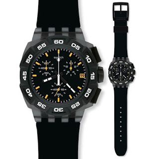 Swatch Black Hero SUIB414 Rp 1.509.000