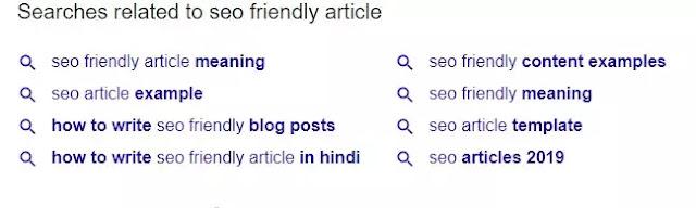 Use Related Keyword