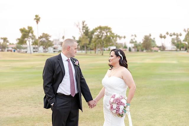 bride and groom wedding portraits az golf resort in mesa