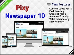 Pixy Newspaper 10 Blogger Template Free Download
