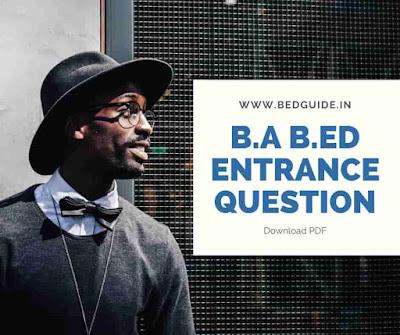 RIE CEE BA B.ED Entrance Questions Paper PDF