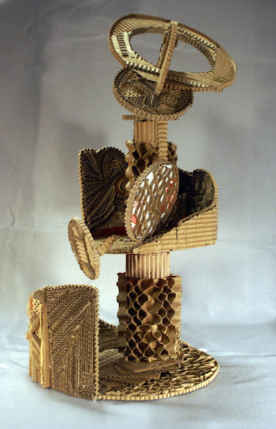 Art And Planar Abstraction Cardboard Sculpture