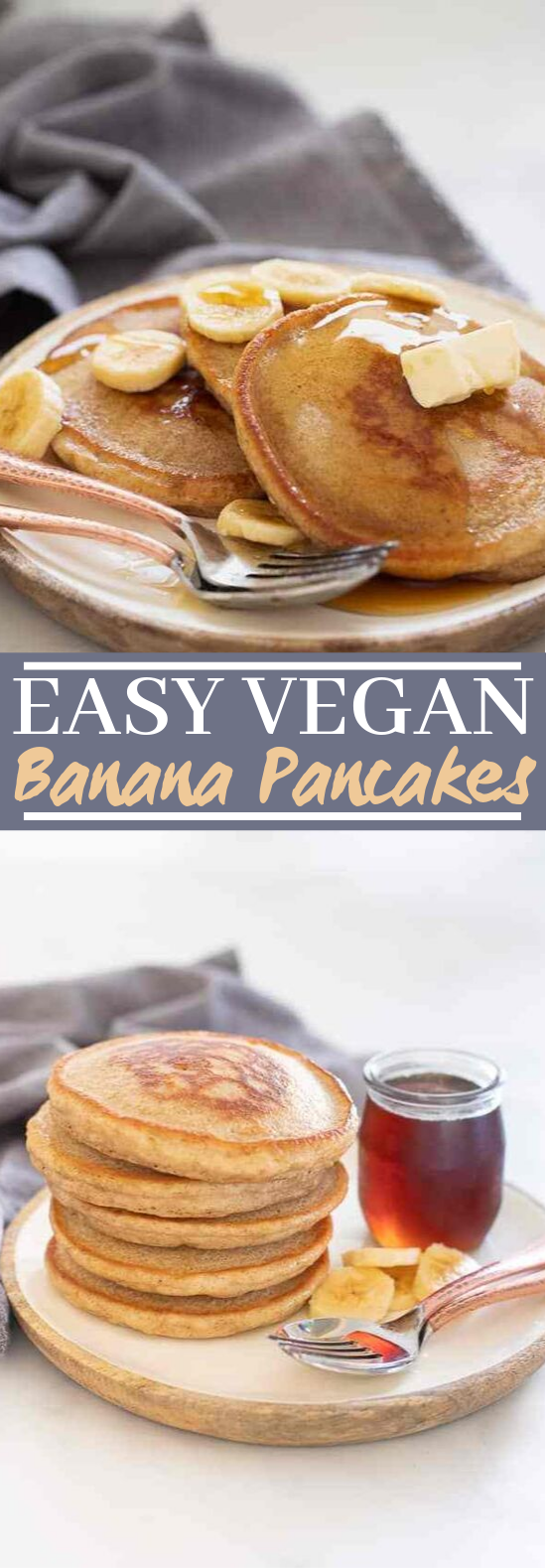 Vegan Banana Pancakes #breakfast #vegan