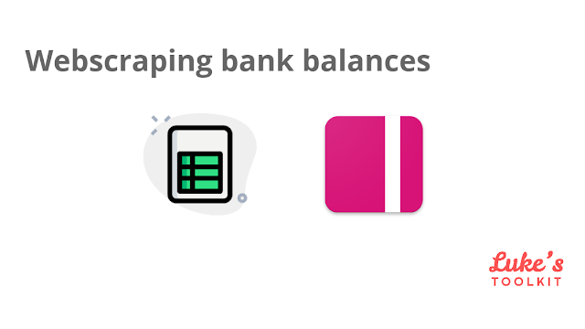 Cover image for webscraping bank account balances