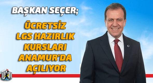 Vahap Seçer,Mersin Büyükşehir Belediyesi,Anamur Haber,Anamur Haberleri,Anamur Son Dakika,
