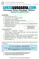 Loker Surabaya di PT. Kayu Mebel Indonesia Juni 2020