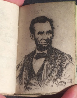 A portrait of Lincoln.