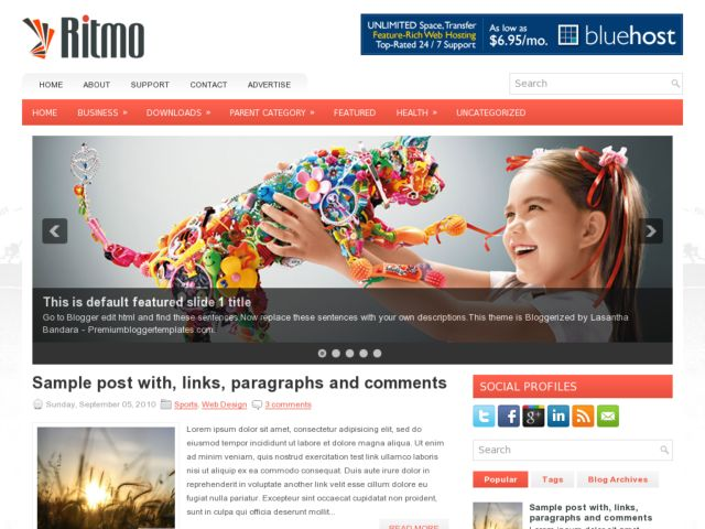 Demo Ritmo Blogger Template