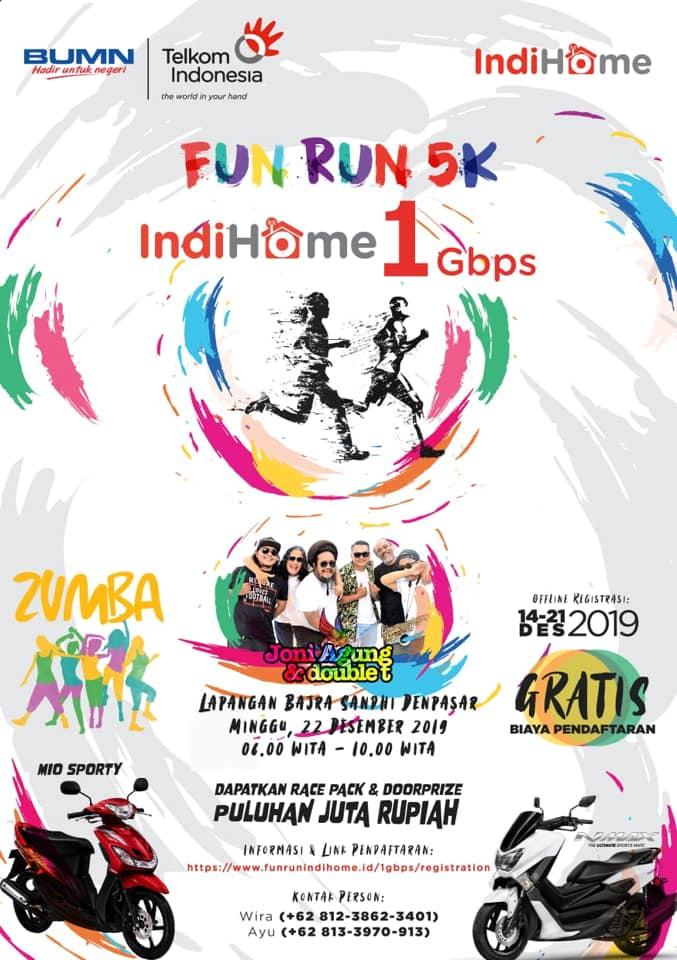Fun Run 5K Indihome 1 Gbps • 2019