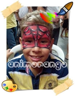 Pintura Facial Homem aranha face painting spider man