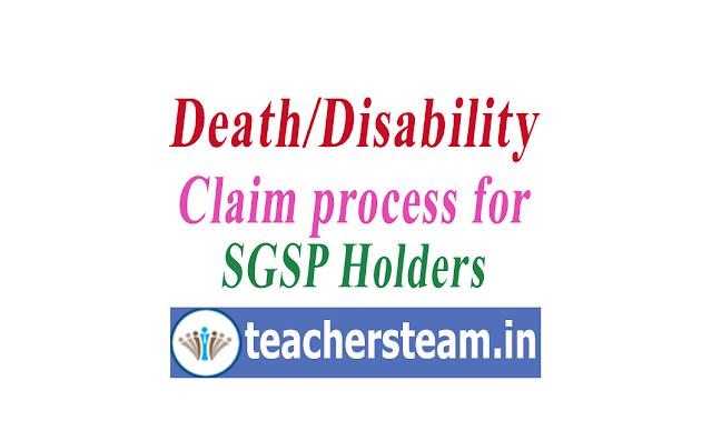 Death Disability claim process for SBI SGPS account holders