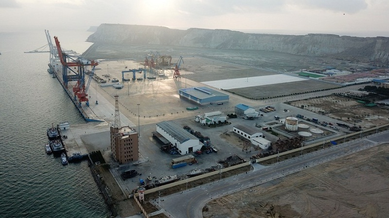 Infrastructure being built under CPEC agreement between China and Pakistan
