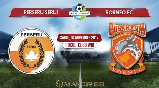 Prediksi Bola : Perseru Serui Vs Pusamania Borneo FC , Sabtu 04 November 2017 Pukul 13.30 WIB