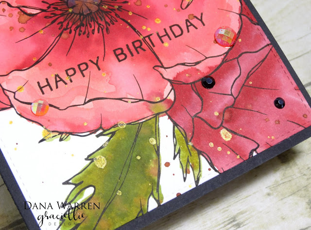 Dana Warren - Kraft Paper Stamps - Graciellie Designs - Poppy Watercoloring