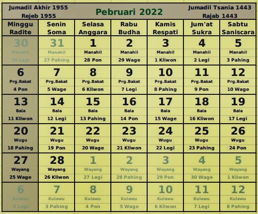 download kalender februari 2022
