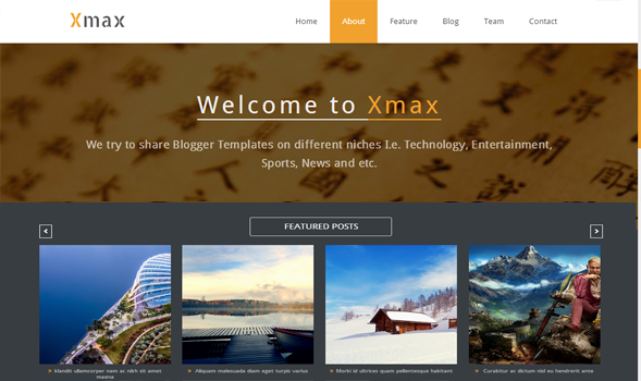xmax blogger template