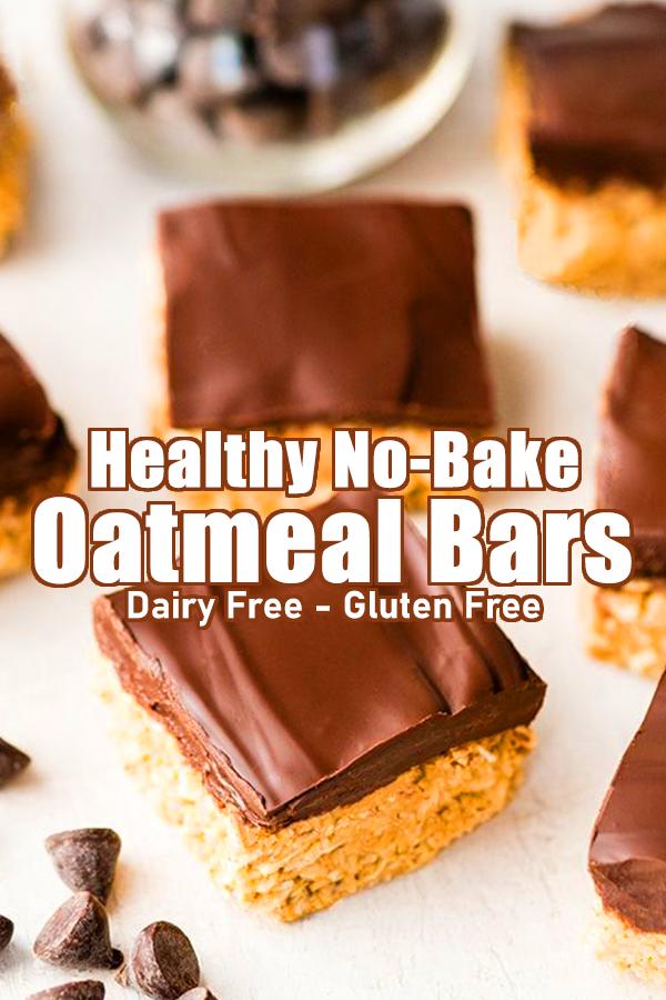 Healthy No-Bake Oatmeal Bars