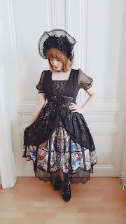 Starlight Lily OP, L'armoire de versailles, lolita fashion, gothic lolita, austrian lolita community, auris lothol, bonnet, coordinate