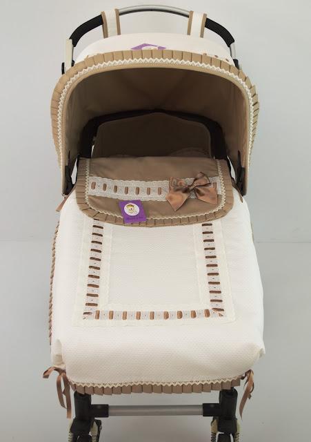 colcha lencera Bugaboo beige camel