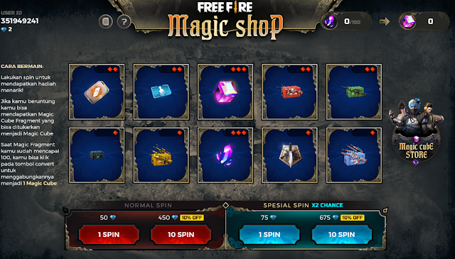 Event Magic Shop Terbaru Free Fire Bundle Violet Flame November 2019