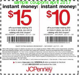 free JCPenney coupons for april 2017