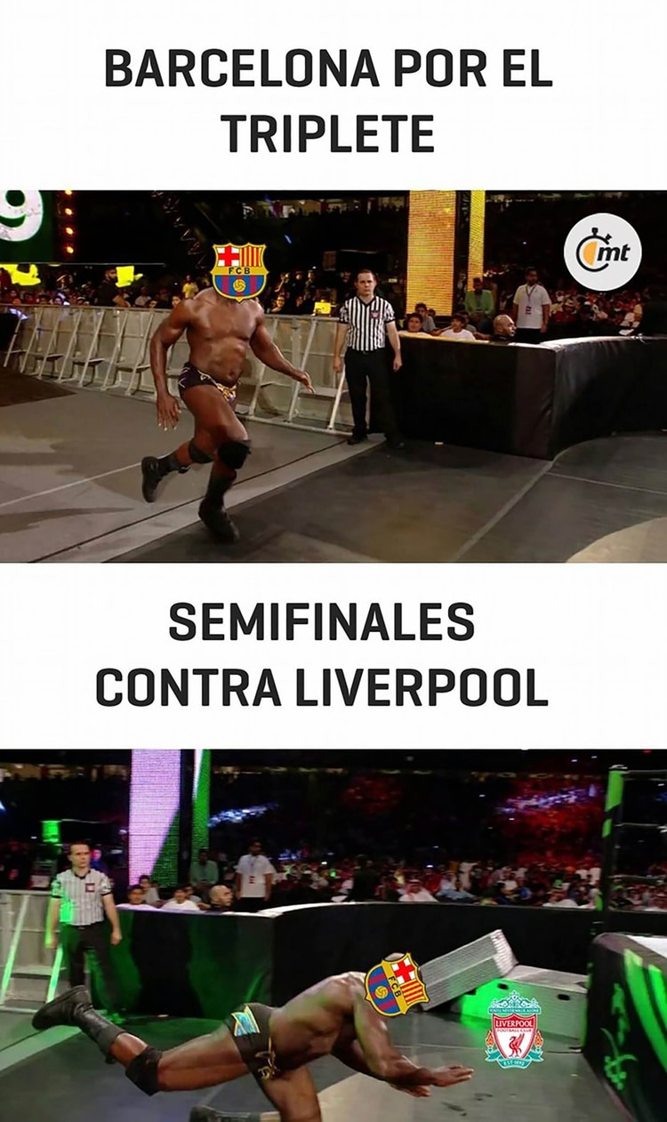 Meme Vignette Divertenti eliminazione Barcellona a Liverpool Foto 8.