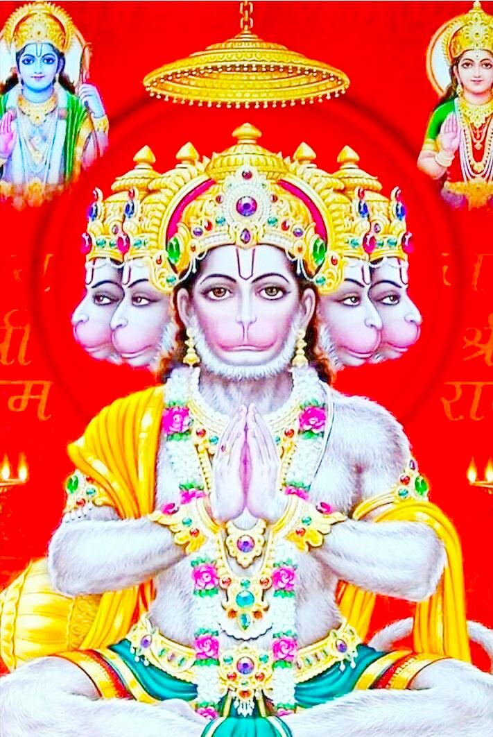 Panchmukhi hanuman hd image