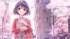 Cherry blossoms flying in the sky - 船新版本 [Wallpaper Engine Anime]
