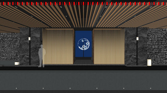Kyoto Pool Entrance_Sketchup