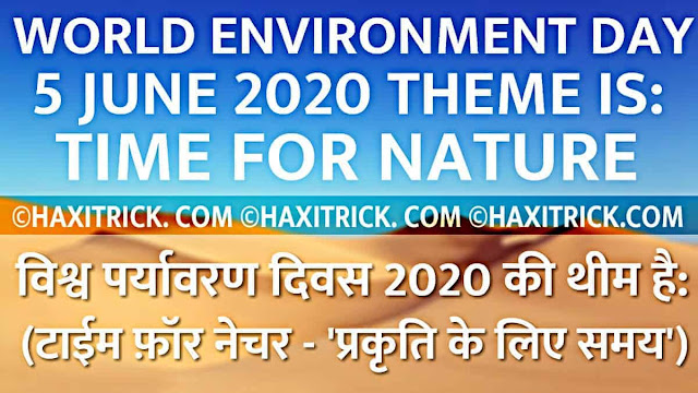 World Environment Day 2020 Theme Time For Nature