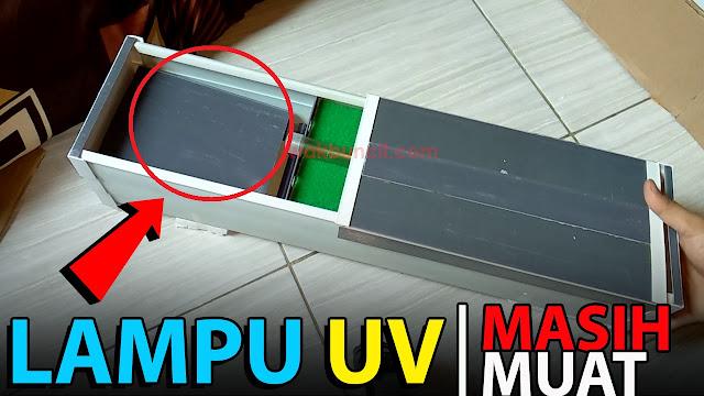 Review Custom Filter BOX Talang Air Ikan Hias Mas Koki Ukuran 60cm Gen 4: Lampu UV Bisa Muat