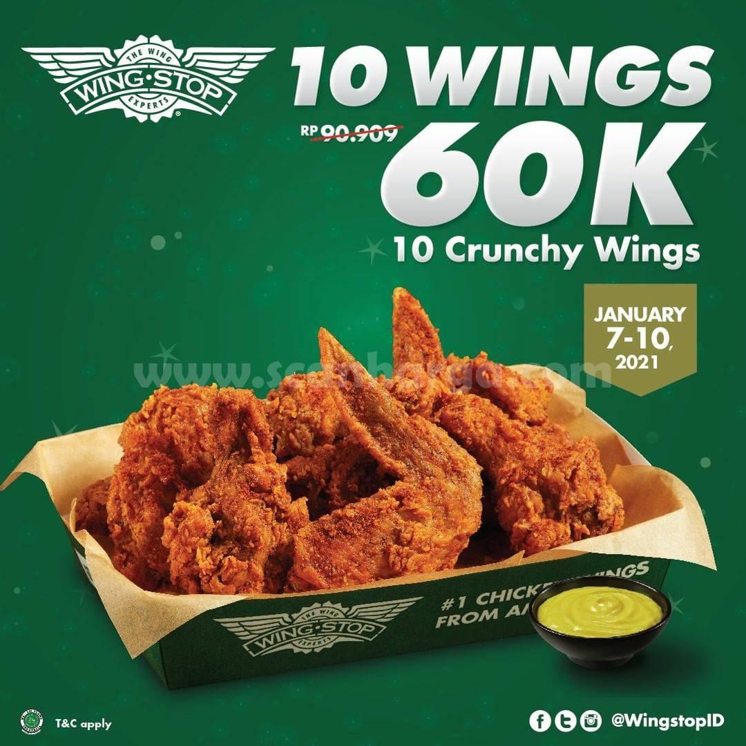 WINGSTOP Promo 10 Crunchy Wings hanya 60K