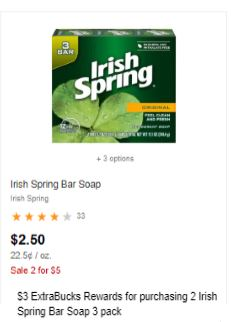 irish spring bar soap cvs deal
