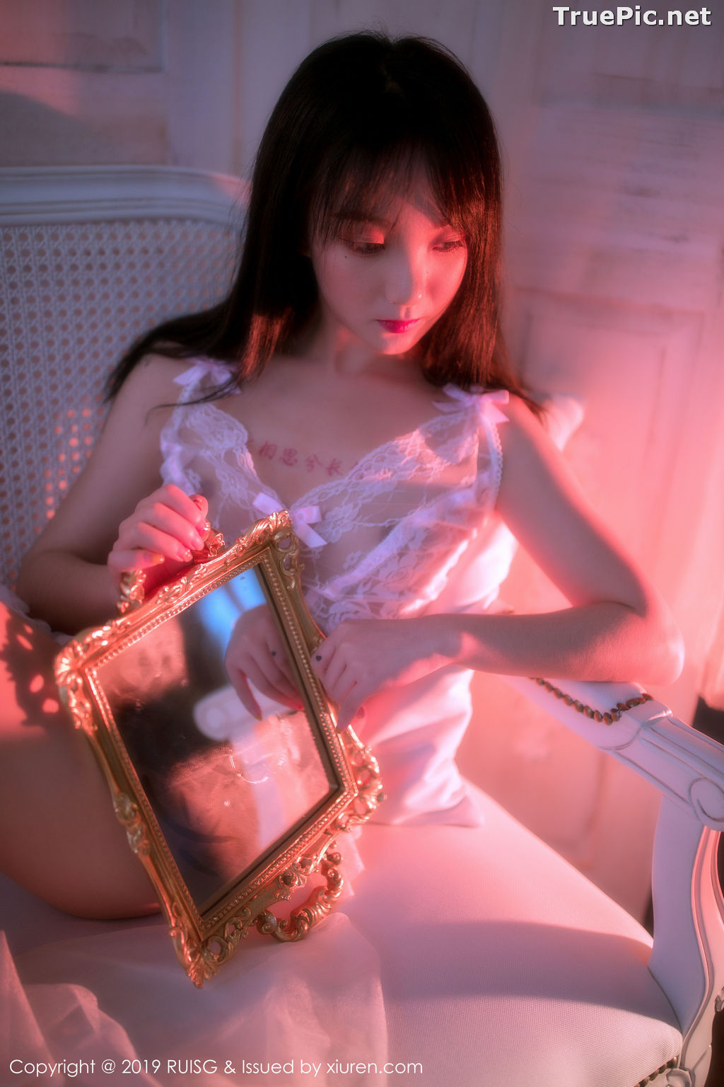Image RuiSG Vol.079 - Chinese Model 小葡萄miki - White Angel In The Mirror - TruePic.net - Picture-9