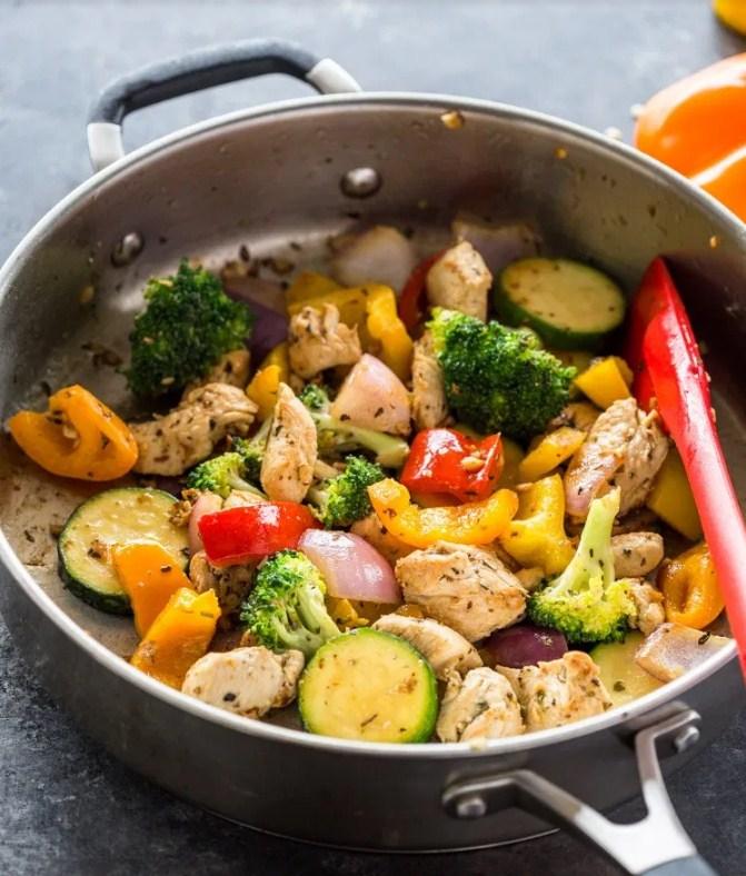 15 Minute Stir-Fry Chicken and Veggies