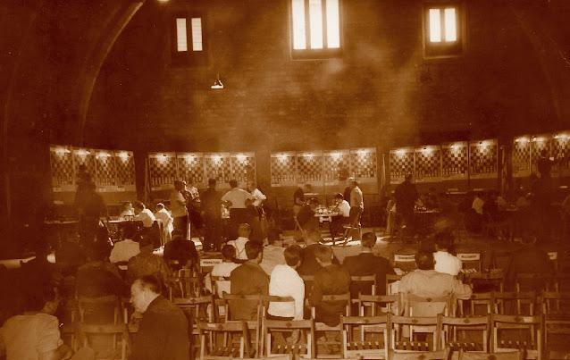 Sala de juego del Campeonato de España de ajedrez por equipos 1964