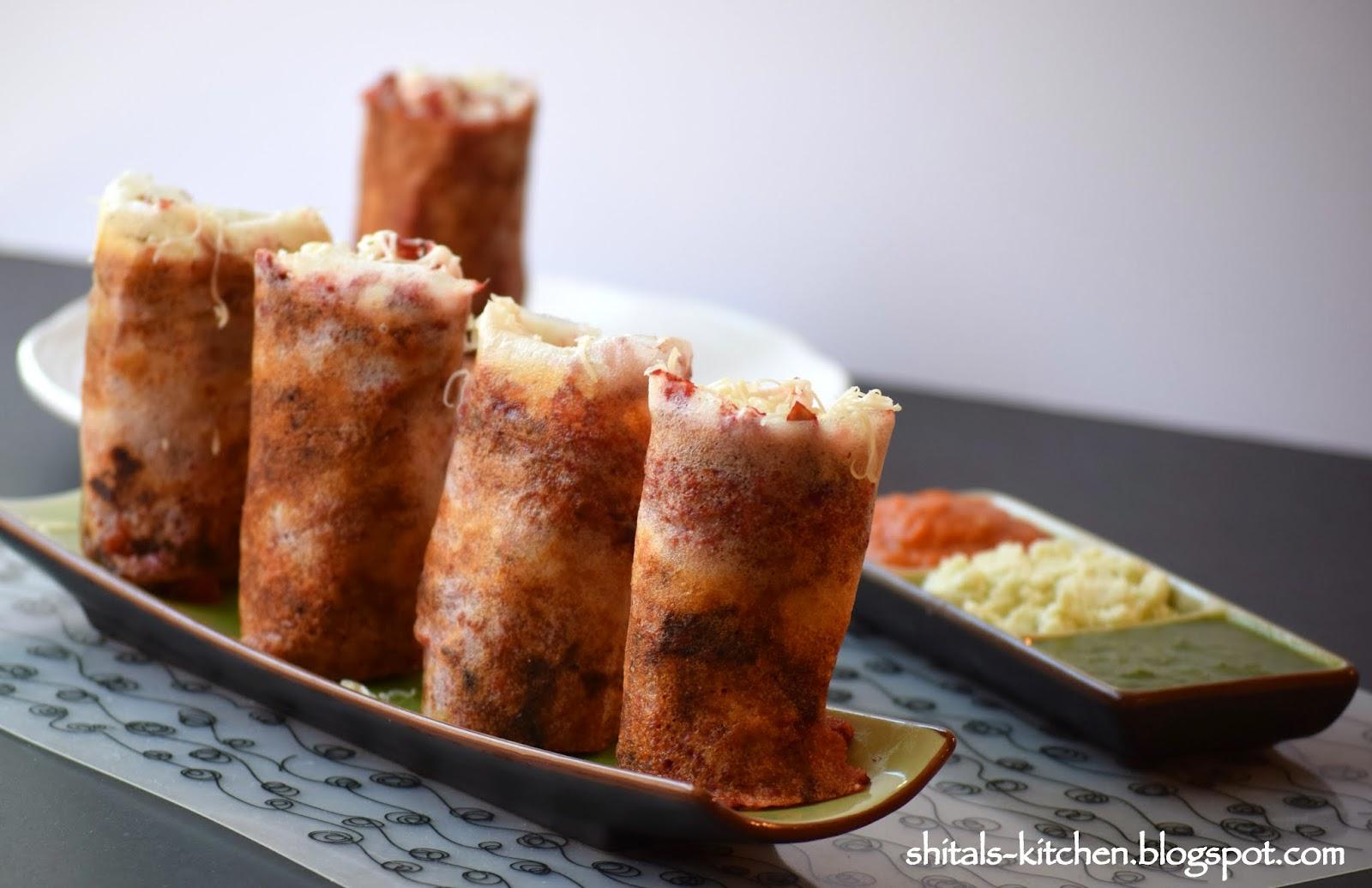 Jini dosa recipe mumbai food jini dosa jini roll dosa