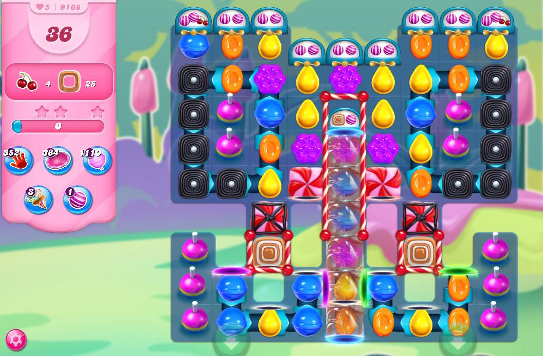 Candy Crush Saga level 9168