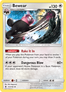 Bewear Guardians Rising Pokemon Card
