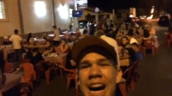 Youtuber cajobiense viraliza com pegadinha na pizzaria