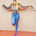 Photogist: Rukky Sanda Strikes Pose With A Python On Her Neck