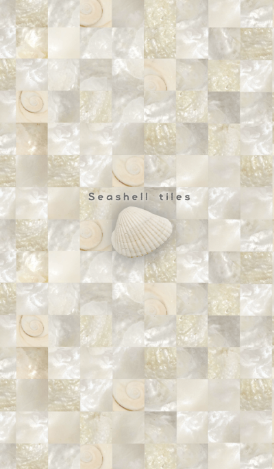 Seashell tiles -coquille pearl-