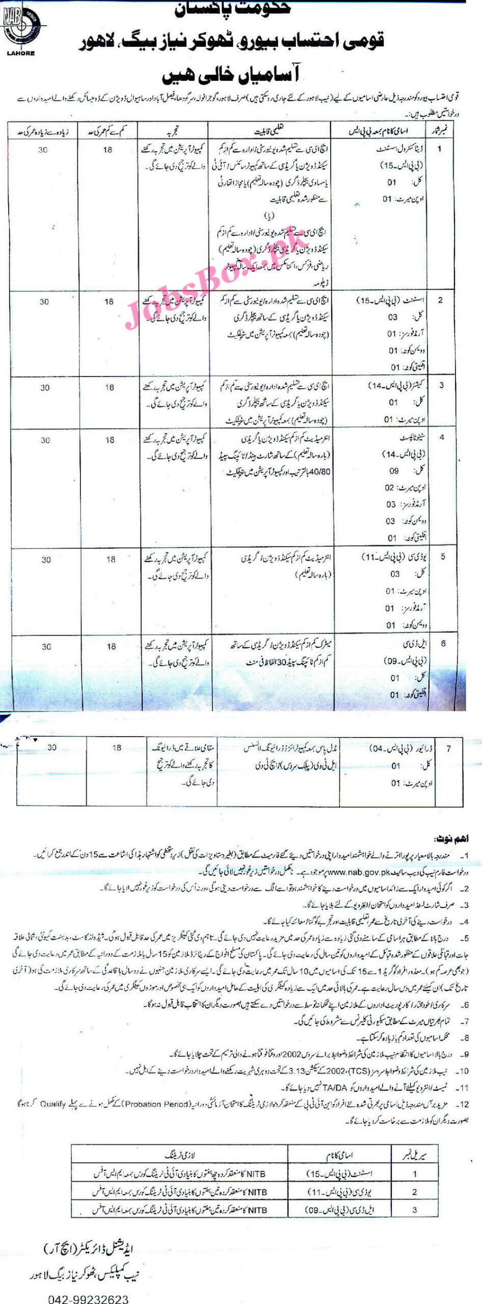 How to apply for National Accountability Bureau Jobs 2021