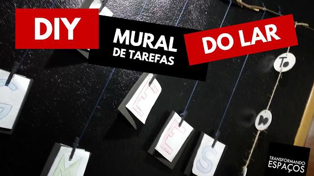 Mural de Tarefas do Lar | DIY (Faça  Você Mesmo)