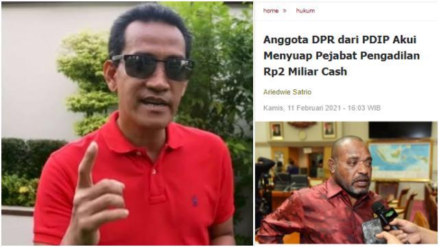 Suap 2 M PDIP Dianggap Biasa, Refly: Kalau Terjadi pada 'Musuh', Waduh Rame-rame Digebukin