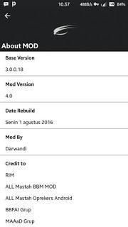 BBM MOD CUSTOMROM V3.0.0.18 APK Terbaru 2016