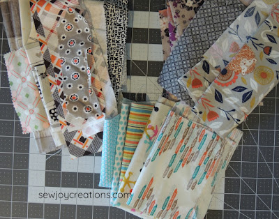 low volume prints liberated churn dash quilt