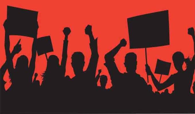 31277 शिक्षक भर्ती में भ्रष्टाचार और अनियमितता के खिलाफ प्रदर्शन
